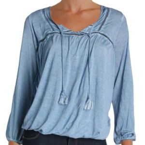William Rast Peasant Top NWT Size XL Sky Blue